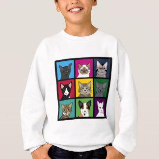 3x3 cats sweatshirt