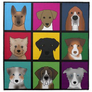 3x3 of dogs napkin