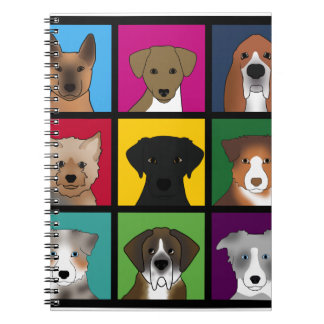 3x3 of dogs notebooks