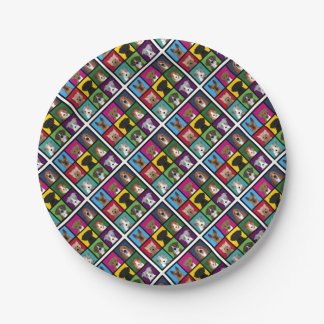 3x3 of dogs paper plate