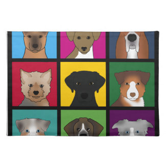 3x3 of dogs placemat
