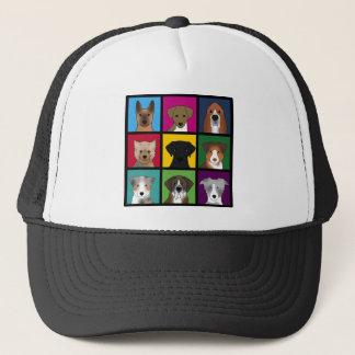 3x3 of dogs trucker hat