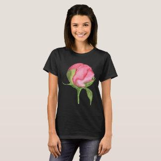 3x Black Watercolor Peonie Shirt