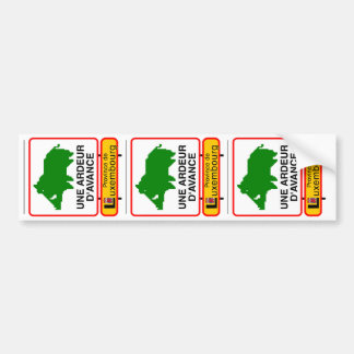3x STICKER CONVEYS - a HEAT IN ADVANCE Bumper Sticker