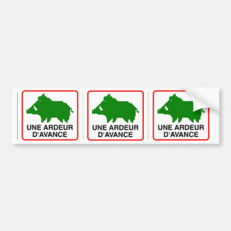 3x STICKER CONVEYS wild boar - a HEAT IN ADVANCE