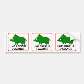 3x STICKER CONVEYS wild boar - a HEAT IN ADVANCE Bumper Sticker
