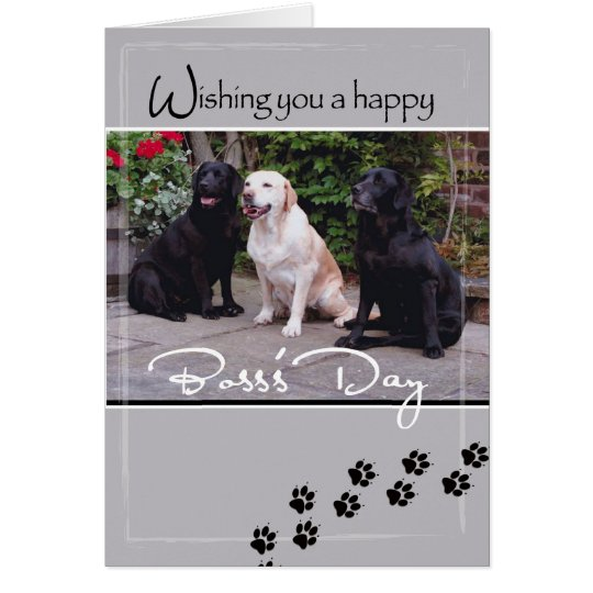 4004 Boss's Day Dogs, All of Us Card