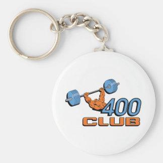 400 Club Weightlifting Basic Round Button Key Ring