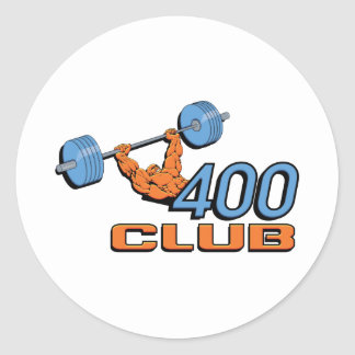 400 Club Weightlifting Classic Round Sticker
