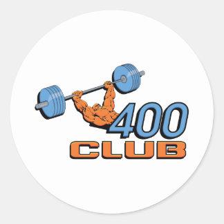 400 Club Weightlifting Round Sticker