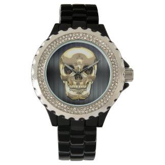 [400] Golden Human Skull Watch