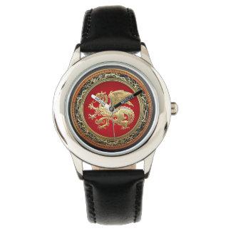 [400] Icelandic Dragon, Landvættir [Gold] Wrist Watch