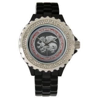 [400] Icelandic Dragon, Landvættir [Silver] Watches