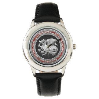 [400] Icelandic Dragon, Landvættir [Silver] Wristwatches