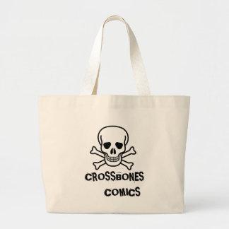 400px-Skull_and_crossbones_svg, CROSSBONES     ... Jumbo Tote Bag