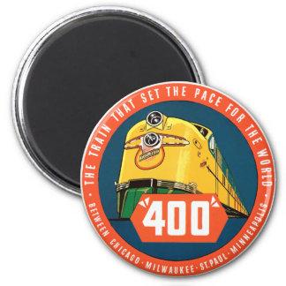 400Train 6 Cm Round Magnet