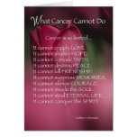 4021 What Cancer Cannot Do Greeting Card