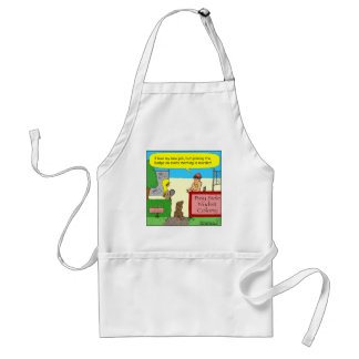 402 nudist cop cartoon standard apron