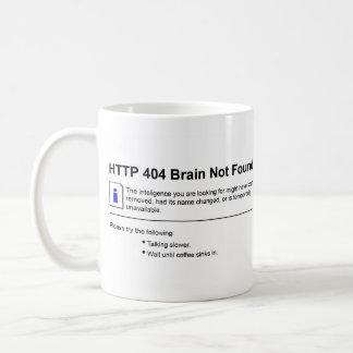 404 Brain Not Found Coffee Mug