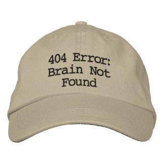404 Error: Brain Not Found Baseball Cap