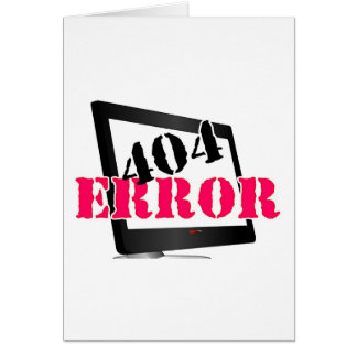 404 Error Greeting Card