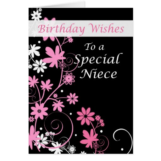 4084 Niece Birthday Wishes Pink And Black