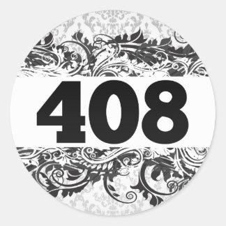 408 CLASSIC ROUND STICKER