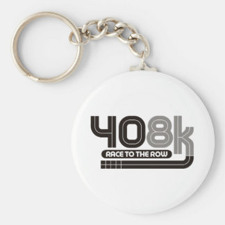 408K Race to the Row Basic Round Button Key Ring
