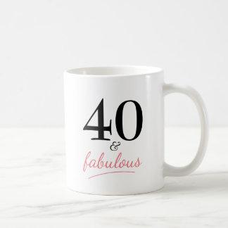 40 and Fabulous 40th Birthday Gift Mug