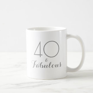 40 and Fabulous Birthday Gift Mug