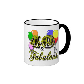 40 and Fabulous Birthday Gifts and Apparel Ringer Coffee Mug