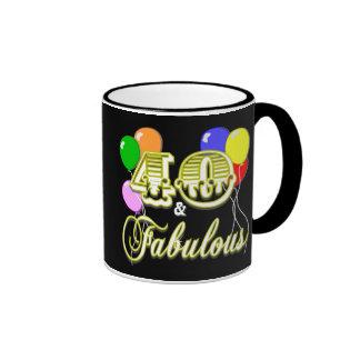 40 and Fabulous Birthday Gifts and Apparel Coffee Mug