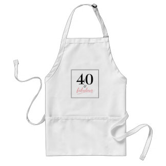 40 and Fabulous Birthday Party Apron