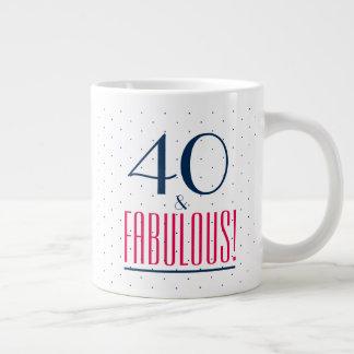 40 and Fabulous! Birthday Party Mug