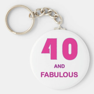 40 and Fabulous Key Chain