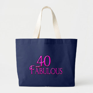 40 and Fabulous Large Tote Bag