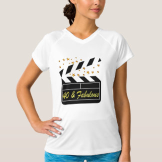 40 AND FABULOUS MOVIE QUEEN T-Shirt