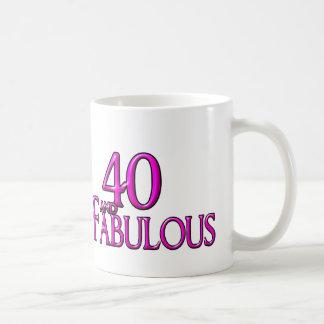 40 and Fabulous Basic White Mug