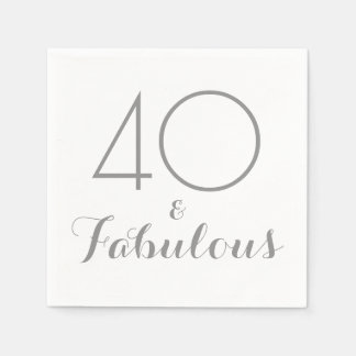 40 and Fabulous Party Napkins Disposable Serviettes