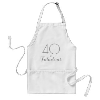40 and Fabulous Standard Apron