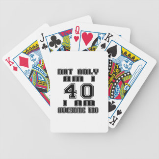 40 Awesome Too Bicycle Playing Cards