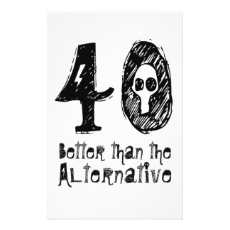 40 Better Than Alternative 40th Funny Birthday Q40 Personalized Flyer
