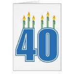 40 Birthday Candles (Blue / Green)