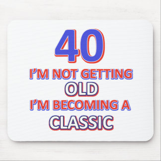 40 birthday designs mouse pad