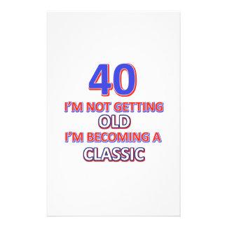 40 birthday designs stationery