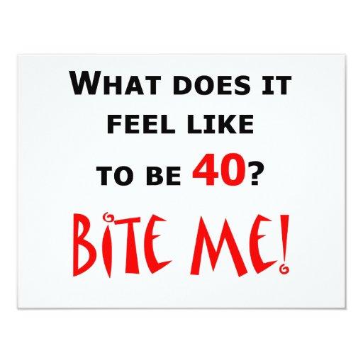 40 Bite Me! 11cm X 14cm Invitation Card