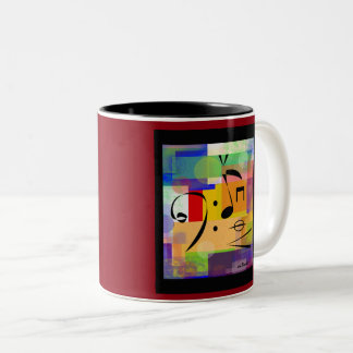 40 Etude Art Mug, Now I'm Ready to Practice Two-Tone Coffee Mug