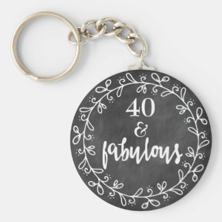 40 & Fabulous - 40th Birthday Custom Keychain