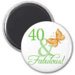 40 & Fabulous Birthday Gifts Fridge Magnet
