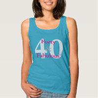 40 & Fabulous! Fun Custom Birthday Blue & Hot Pink